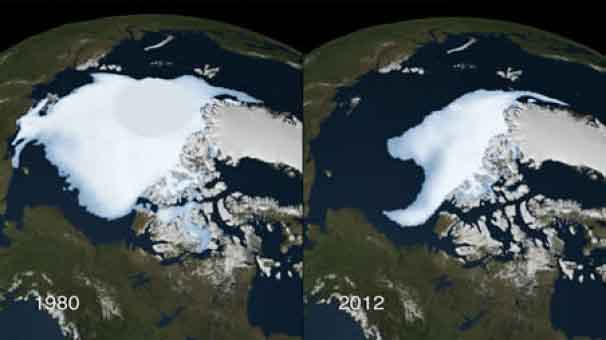 Arctic Ice Shrinking