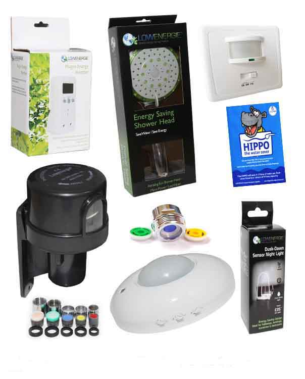 Energy and water saving products