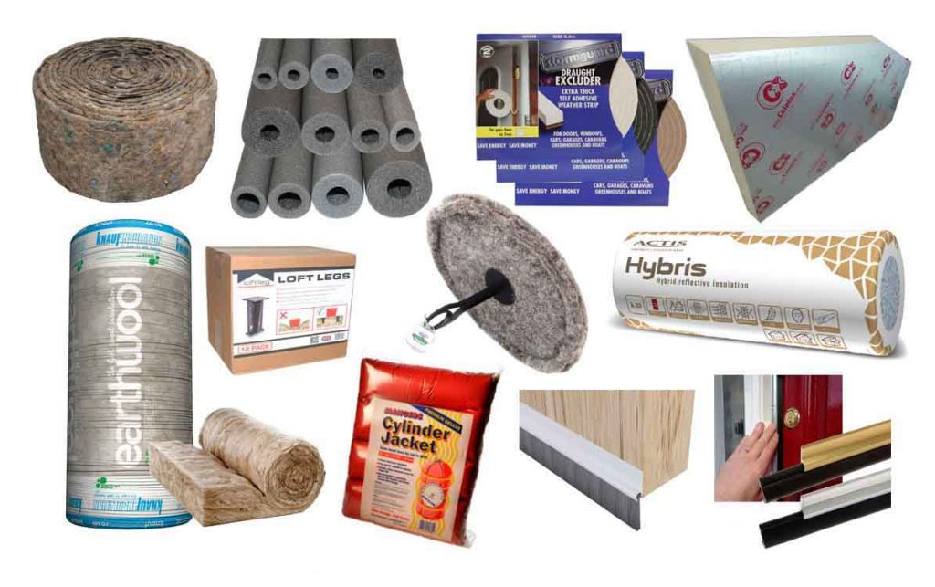 Insulation and Draught Proofing Products